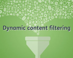 Dynamic content filtering featured image removed