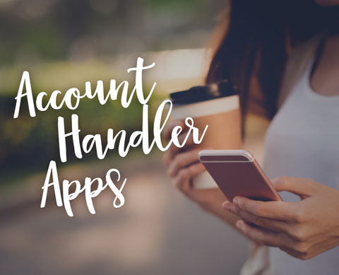 an image saying account handler apps