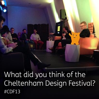 A photograph taken at the Cheltenham design festival