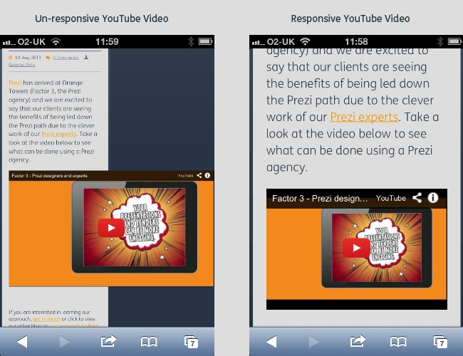 Responsive YouTube Embeds