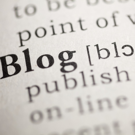 An image showing the dictionary's definition of a blog