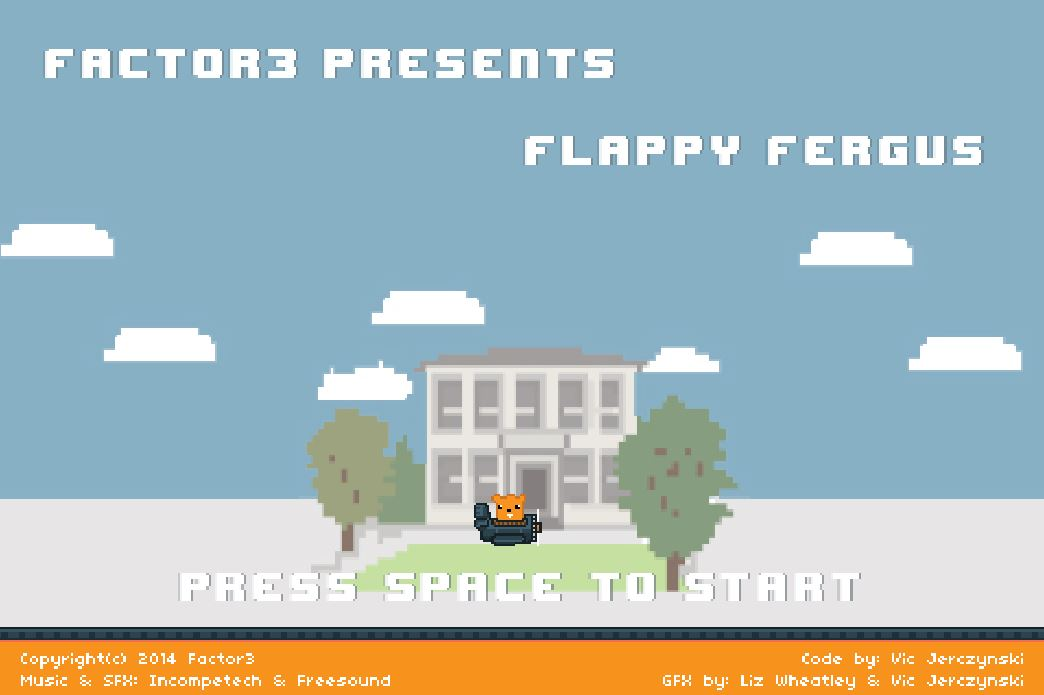 Screenshot of Flappy Bird alternative: Flappy Fergus
