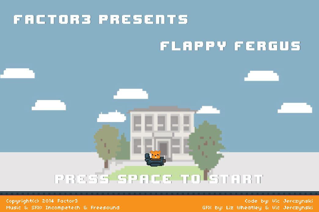 Screenshot of Flappy Bird alternative: Flappy Fergus