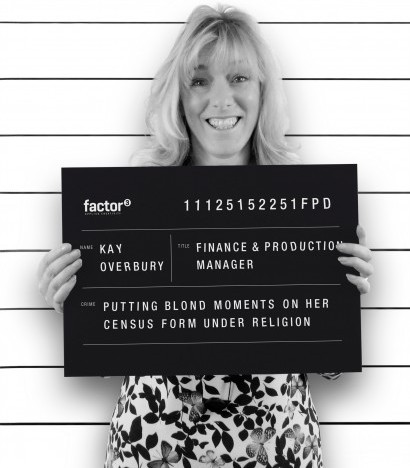 A mugshot of Kay Overbury, Finance Manager at Factor 3 Communications