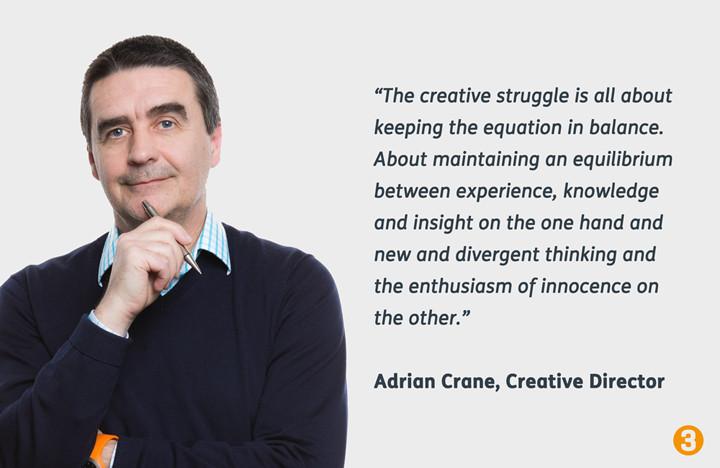 Our Creative Director, Adrian Crane's Creative Struggle