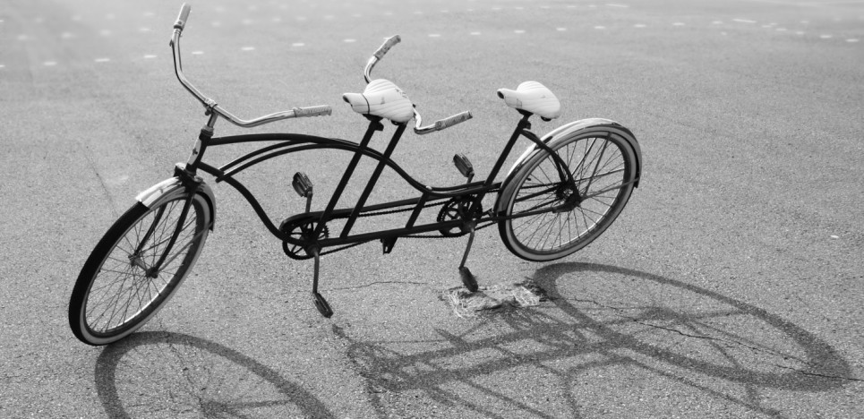 content marketing tandem bike