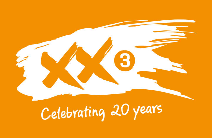 Factor 3's 20th anniversary identity