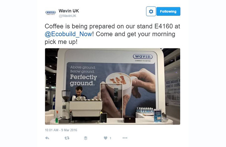 Top 10 tips for exhibition success - Refreshments will attract and keep people on the stand