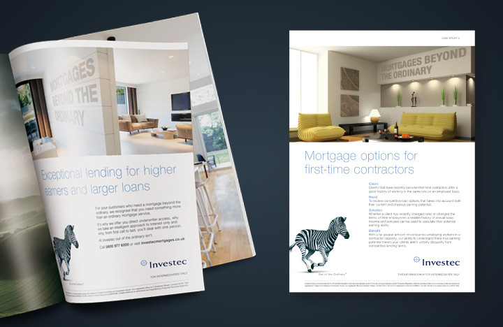 Financial services marketing example for Investec
