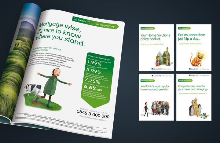 Financial services marketing example for Lloyds TSB