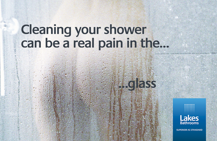 Ade's headline highlights: Lakes Bathrooms - cleaning your shower can be a real pain the...glass