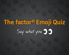 The Factor 3 emoji combinations quiz featured image