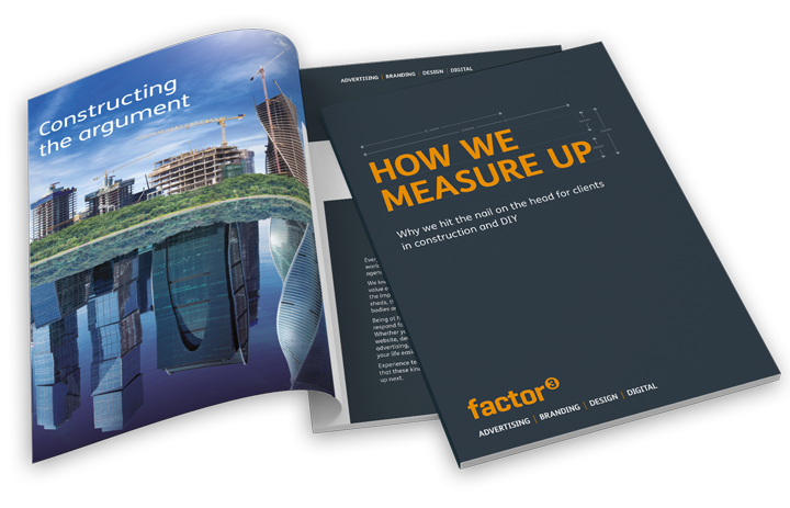 A picture of Factor 3's Construction and DIY Marketing brochure