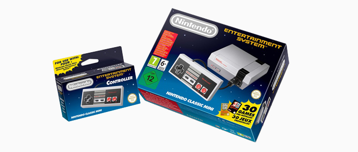 a photo of the nintendo classic mini - the perfect gift for a geek