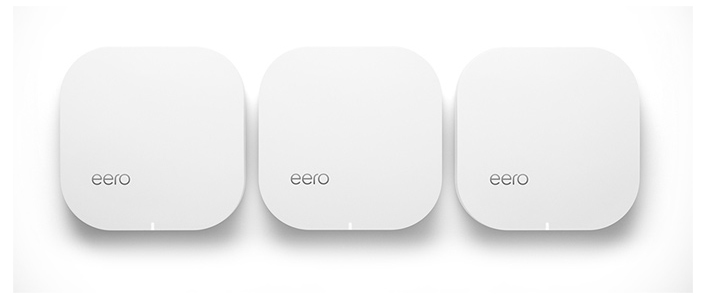 A photo of eero networking mesh router