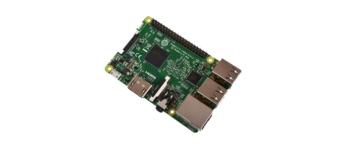 A photo of the rasberry pi 3 - featured in gifts for geeks blog post by Factor 3