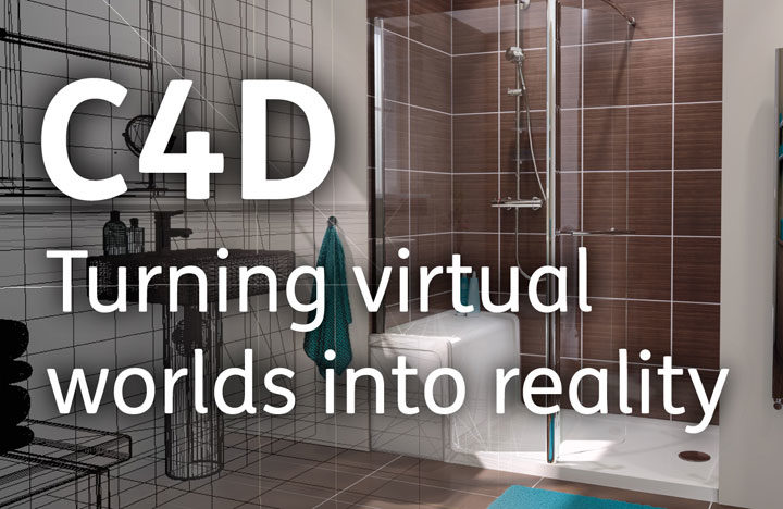 An image demonstrating how C4D can turn virtual worlds into reality