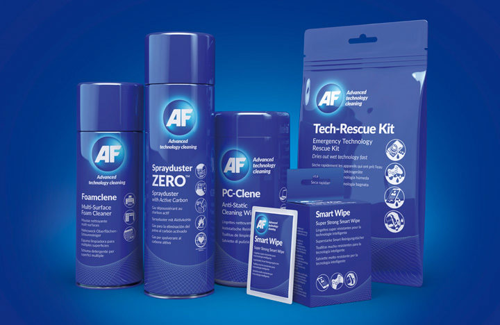 an image of AF product packaging created using C4D