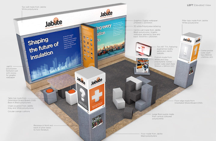 an example of exhibition design using c4d