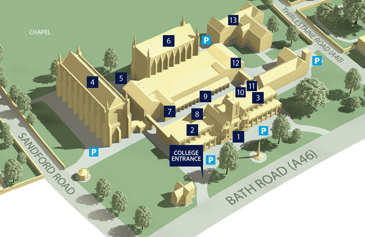 Cheltenham college map, an example of using C4D for information graphics