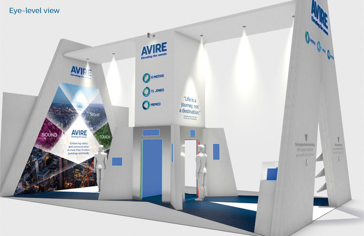 Avire Exhibition Design: an example of exhibition design using C4D