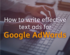 How to write effective text ads for Google Adwords blog post image