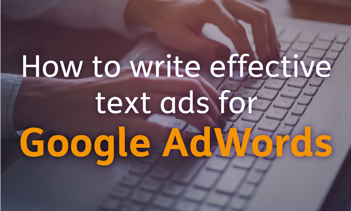 An image of someone writing effective text ads