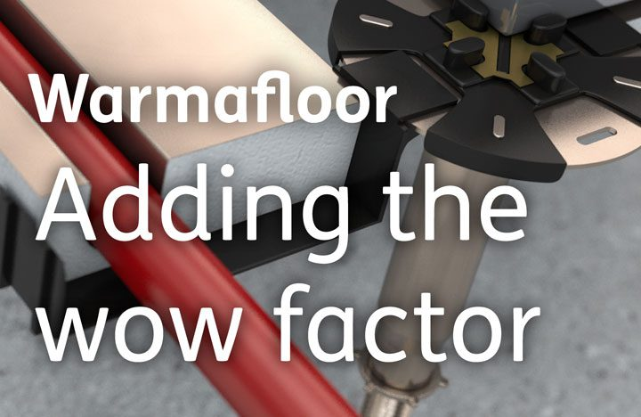 an image showing how we added the wow factor to warmafloor product images using cinema4d