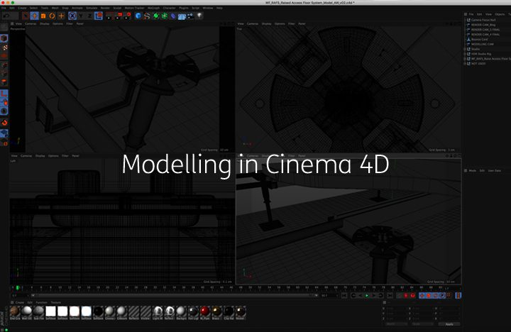 an image showing how you can model a product in cinema 4d