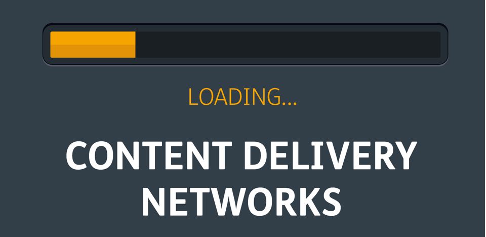 An illustration showing a loading progress bar for the Content delivery networks blog post