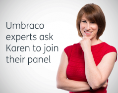 Umbraco experts ask Karen to join their panel featured image removed