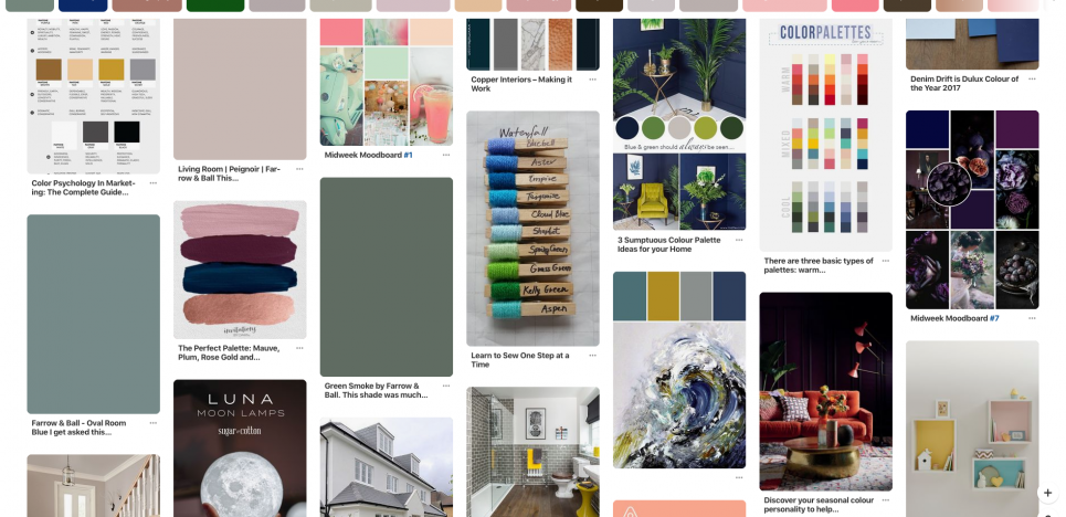 pinterest search result for colours